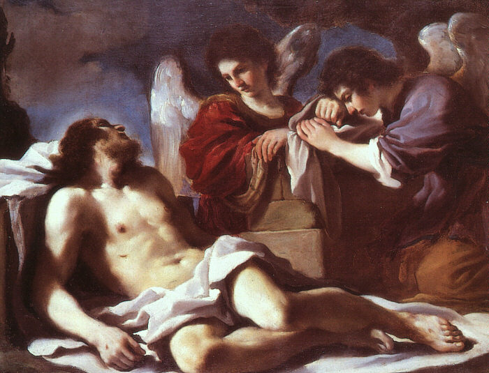 Angels Weeping over the Dead Christ