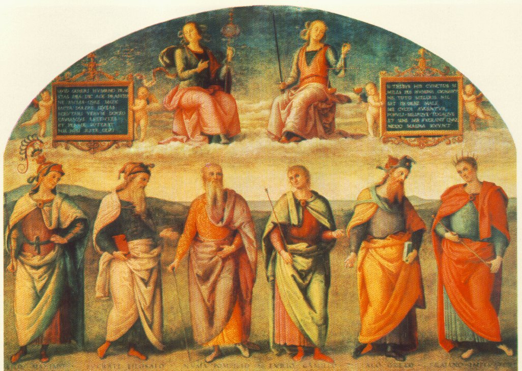 Prudence and Justice with Six Antique Wisemen