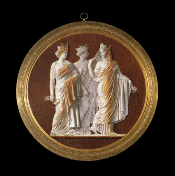 Cameo-style Plaque: The Three Hanseatic Cities (Berlin, Warsaw, Königsberg)
