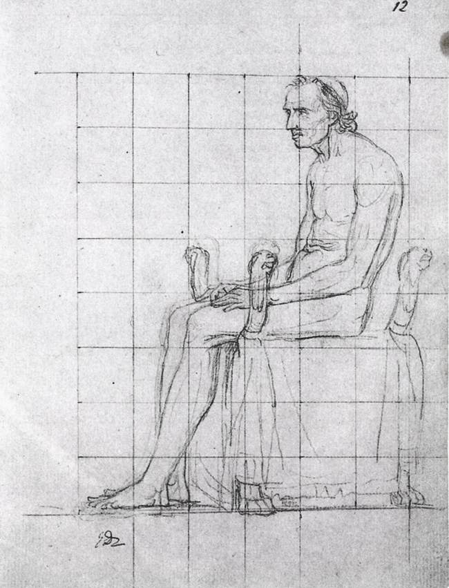 Nude study of Pope Pius VII
