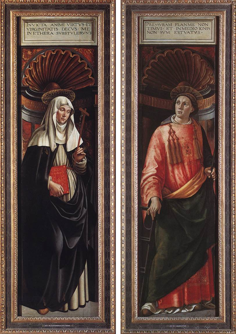 St Catherine of Siena and St Lawrence