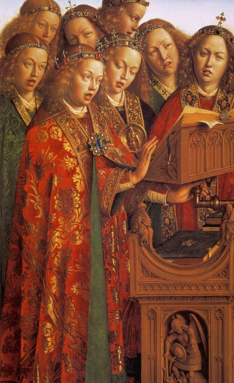 The Ghent Altarpiece: Singing Angels (detail)