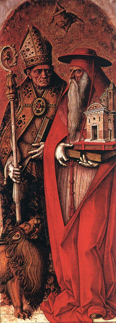 St Jerome and St Augustine