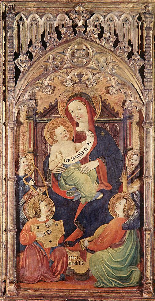 Madonna with Christ Child and Angels Playing Music