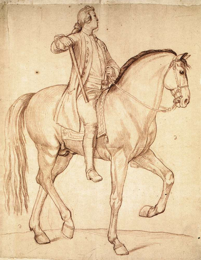 Study for the Equestrian Statue of Louis XV