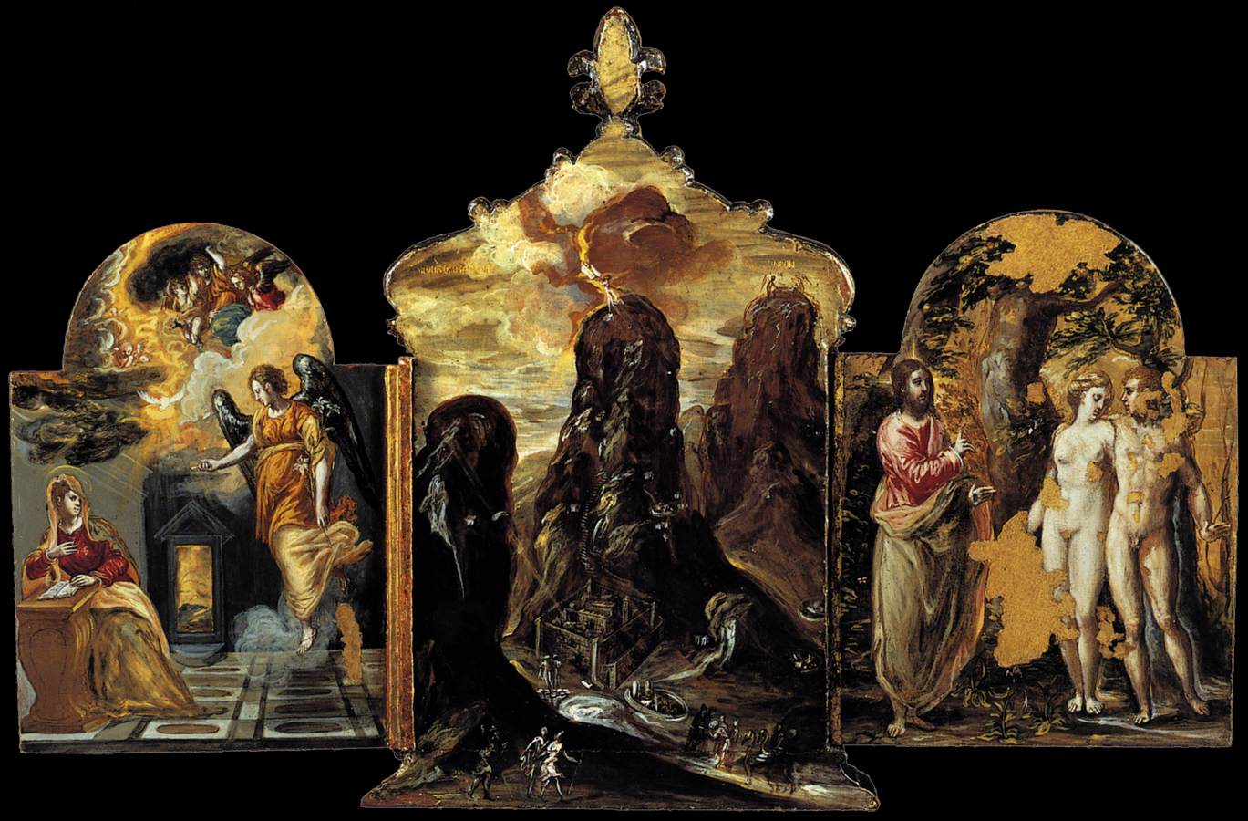 The Modena Triptych (back panels)