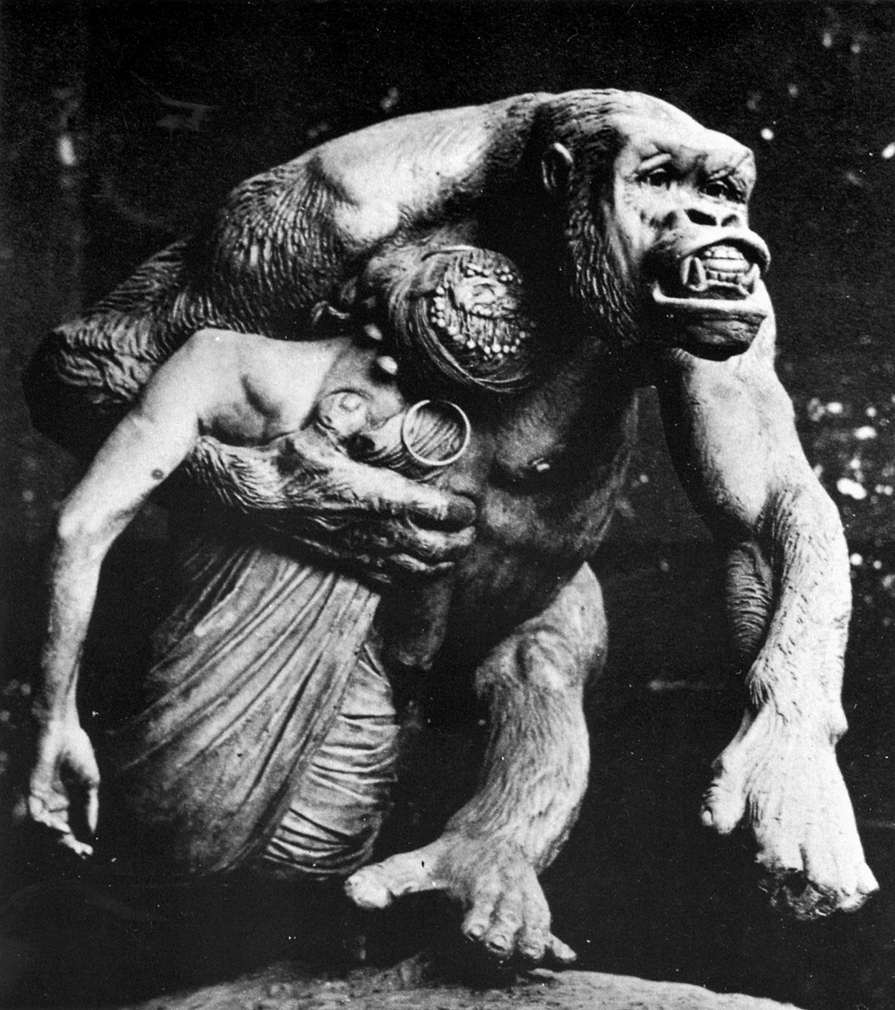 Female Gorilla Carrying off a Negress (destroyed)
