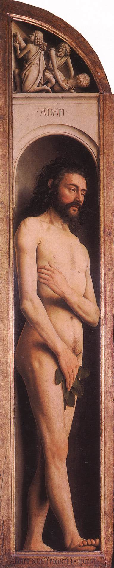 The Ghent Altarpiece: Adam; Cain and Abel