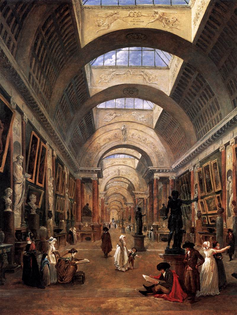 Design for the Grande Galerie in the Louvre (detail)