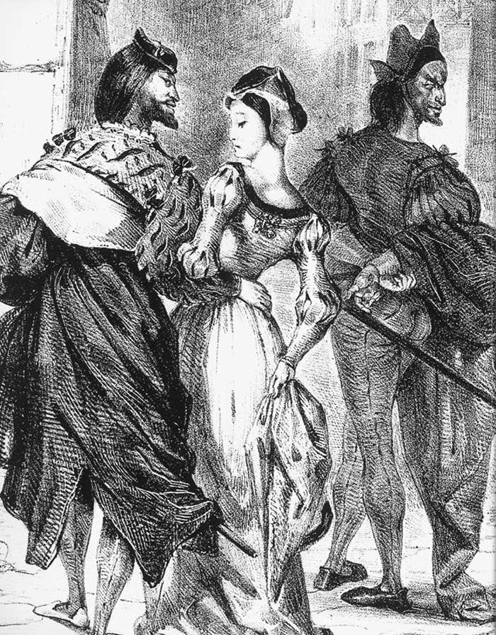 Faust Trying to Seduce Margarete