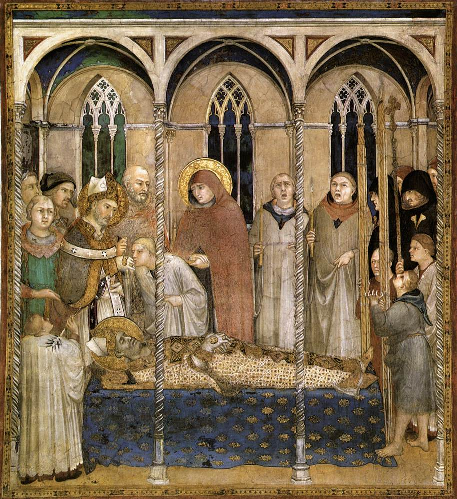 Burial of St Martin (scene 10)