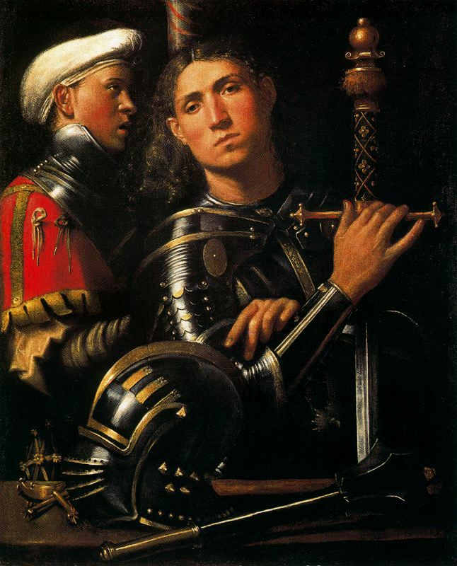 Portrait of Warrior with his Equerry