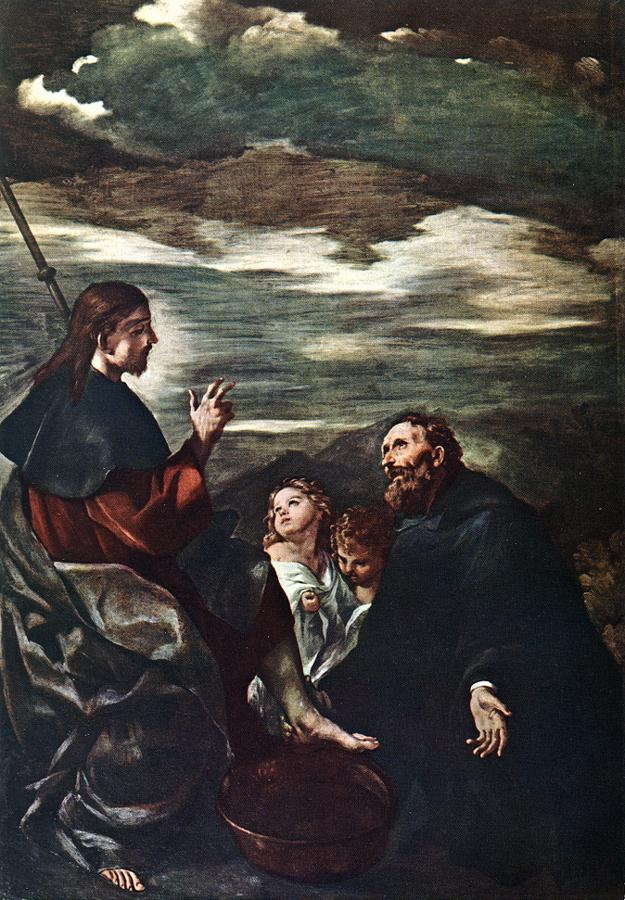 St Augustine Washing the Feet of the Redeemer