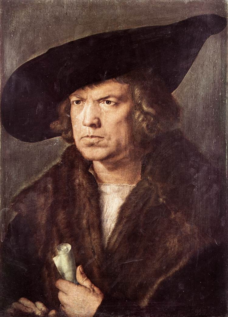 Portrait of a Man with Baret and Scroll