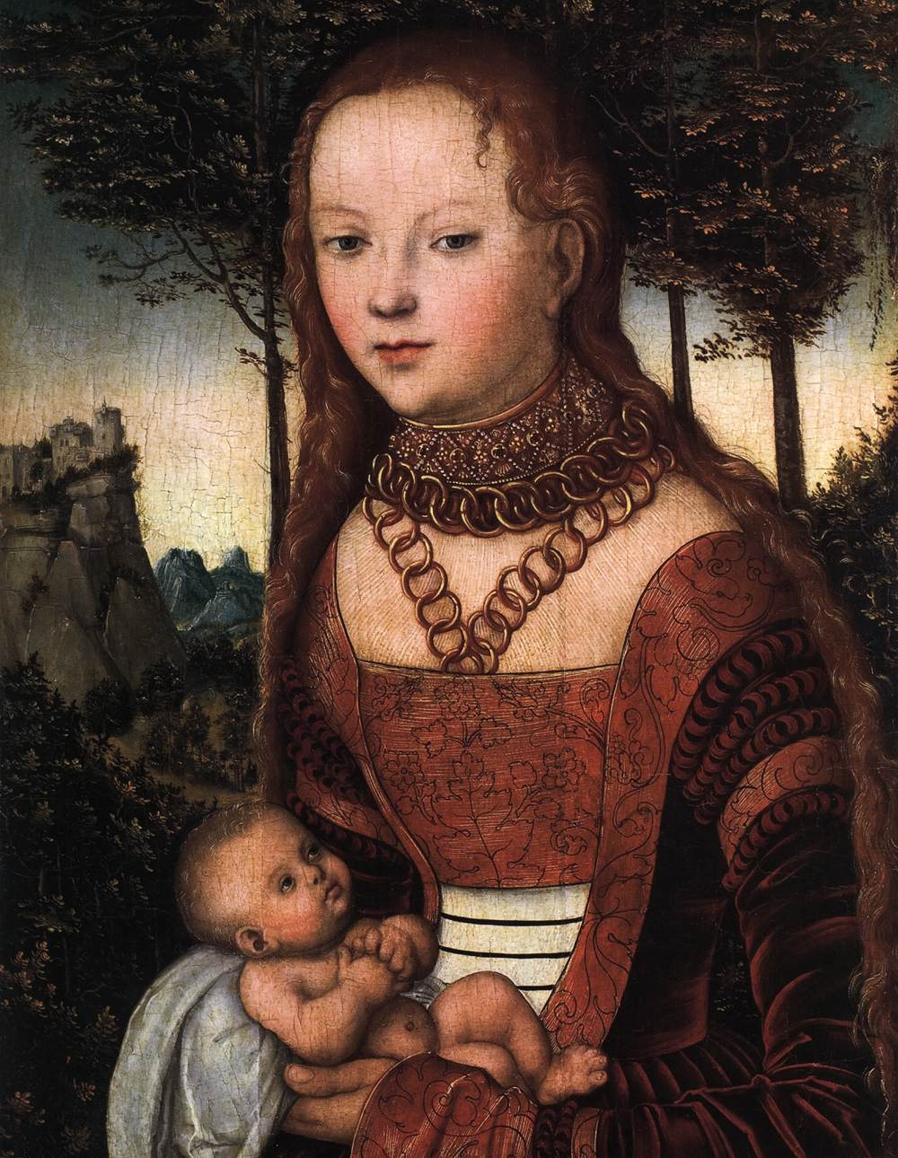 Young Mother with Child (detail)