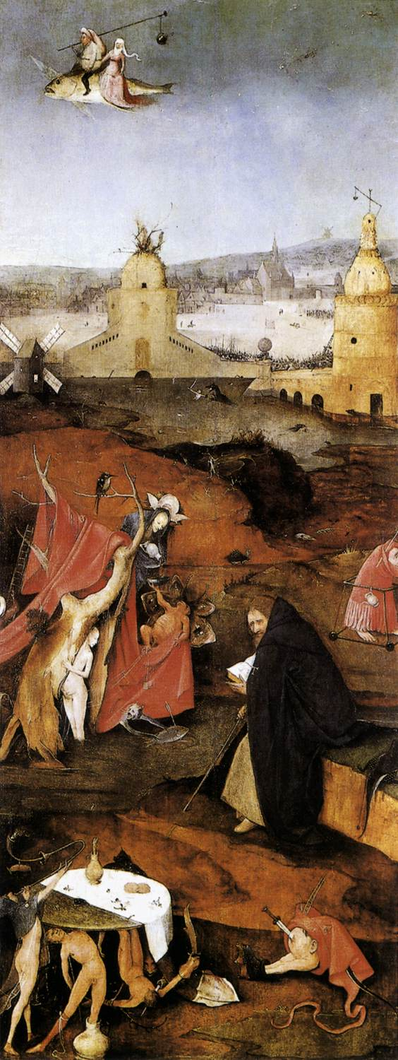 Triptych of Temptation of St Anthony (right wing)