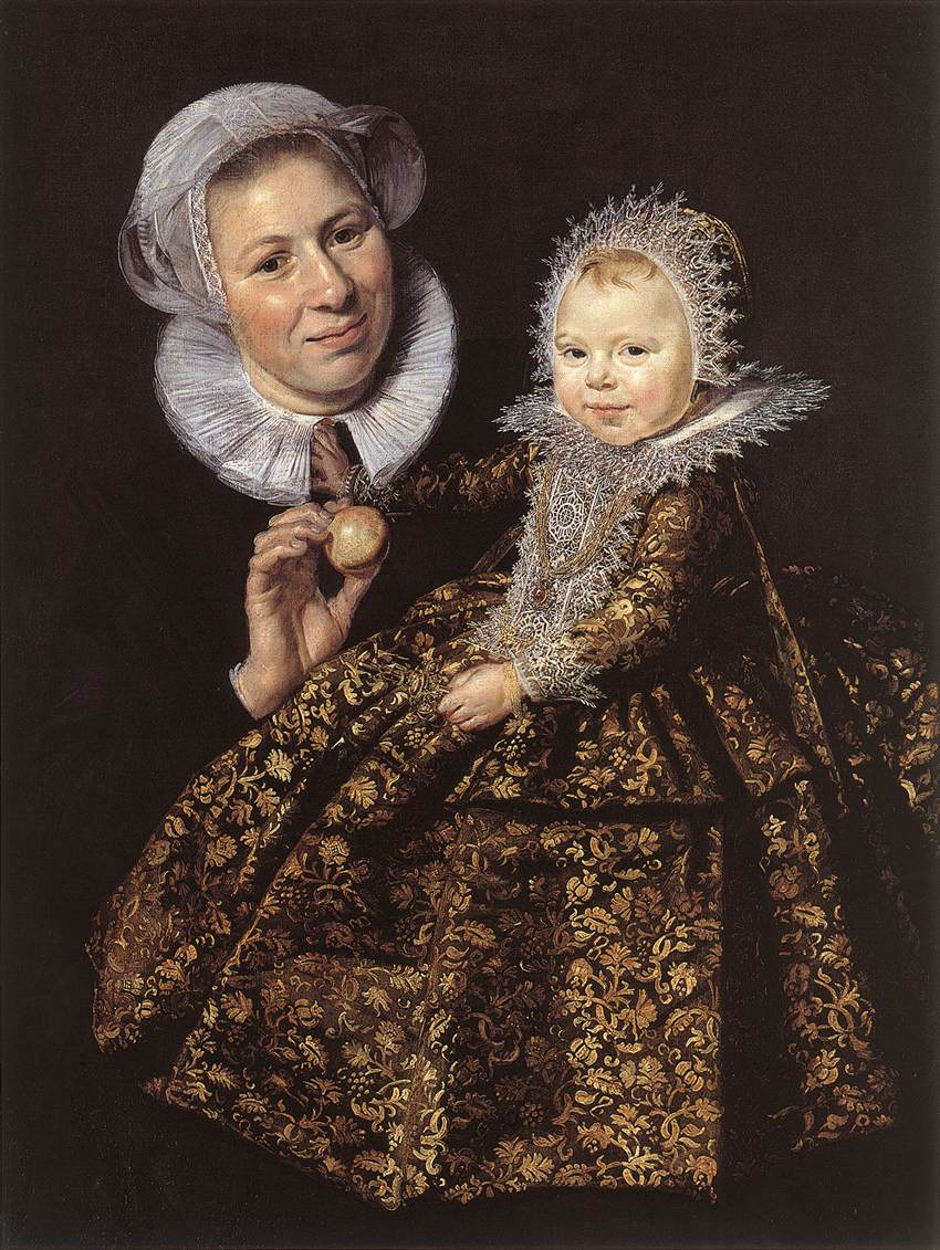 Catharina Hooft with her Nurse