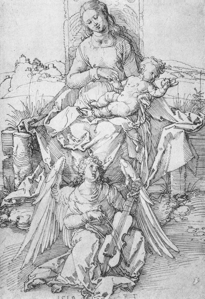 The Madonna and Child with a Music-making Angel