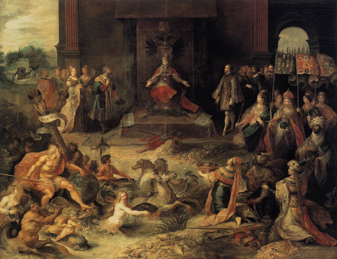 Allegory on the Abdication of Emperor Charles V in Brussels, 25 October 1555,