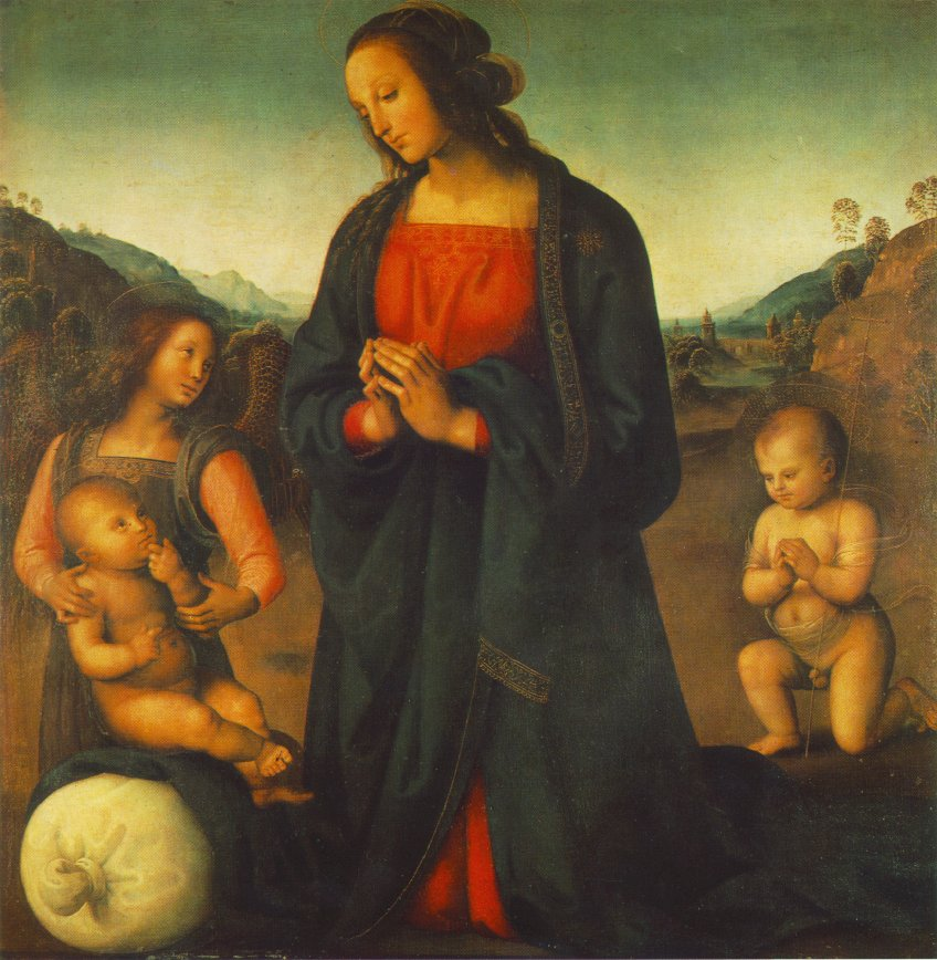 Madonna, an Angel and Little St John Adoring the Child (Madonna del sacco)