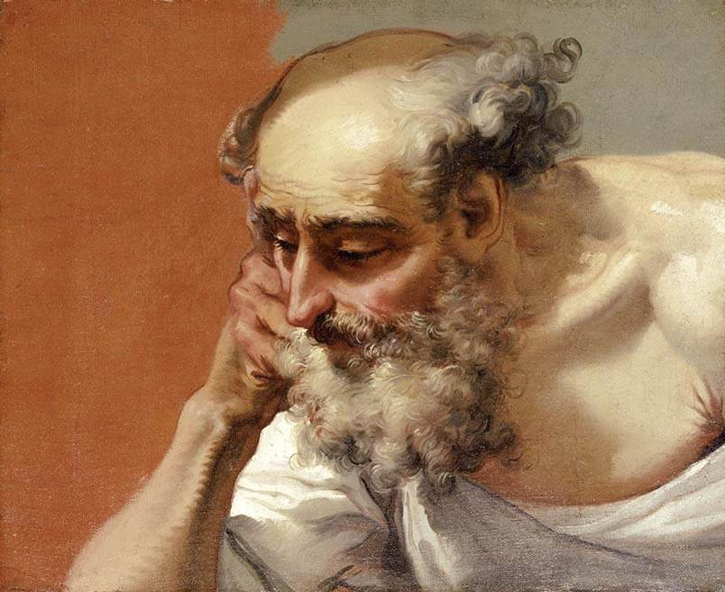 Head Study of an Elderly Bearded Man