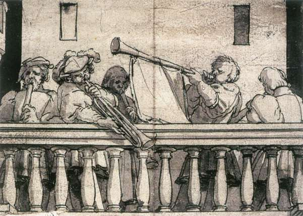 Musicians on a Balcony