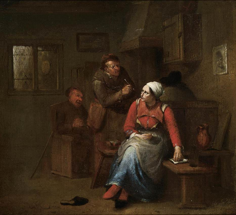Two Peasants and a Woman in an Inn