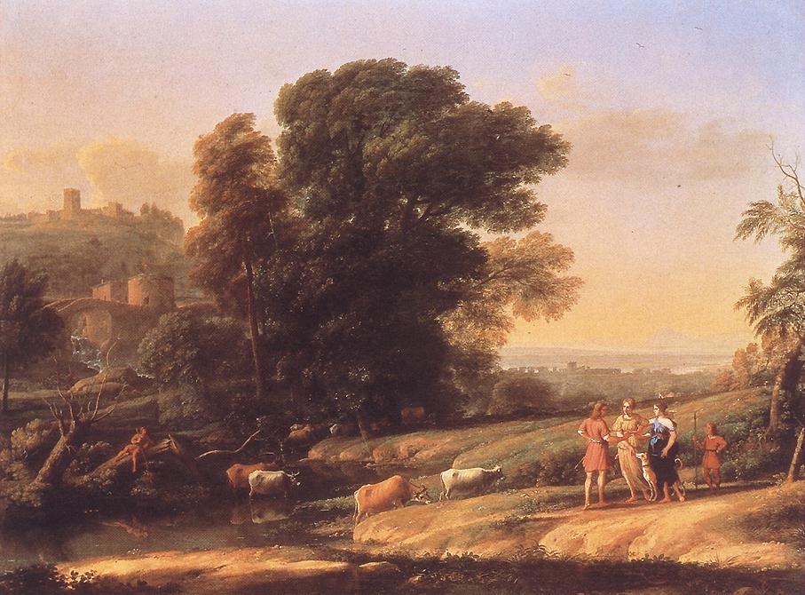 Landscape with Cephalus and Procris Reunited by Diana