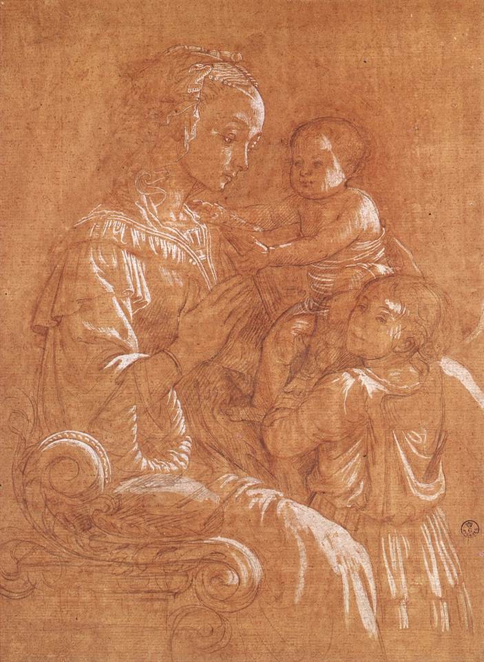 Madonna with the Child and two Angels