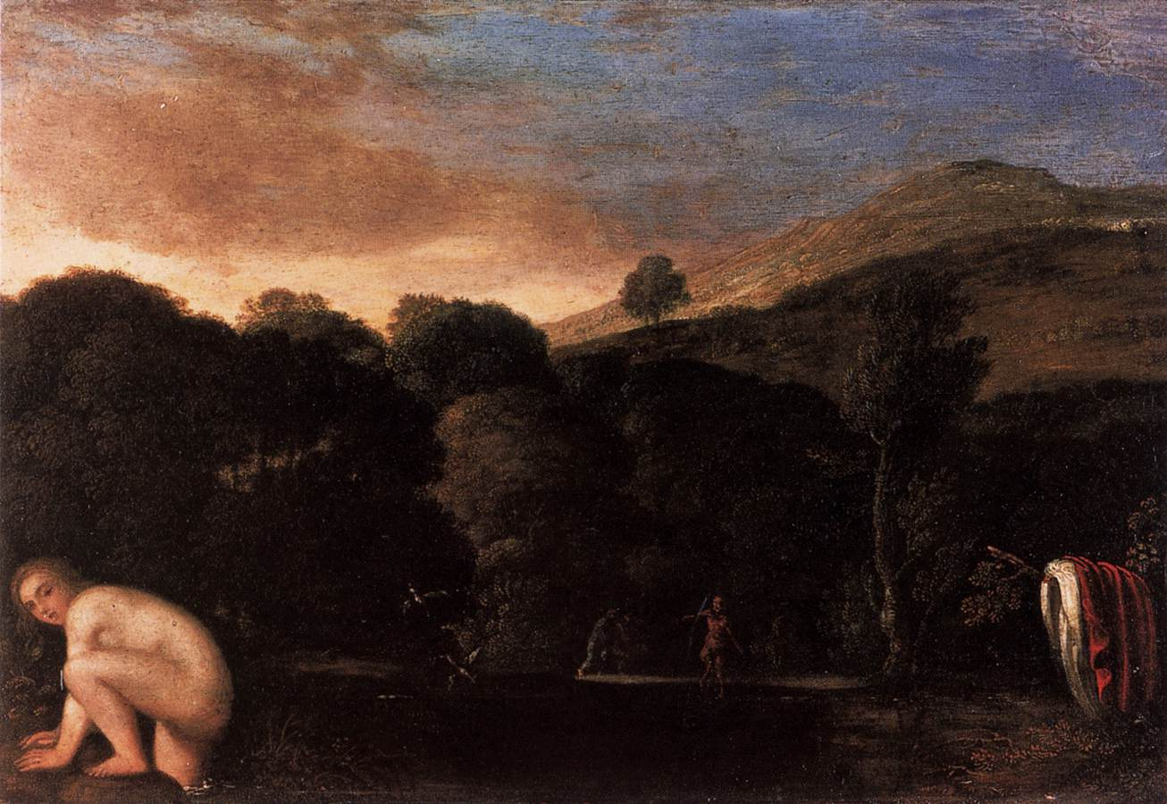 Nymph Fleeing Satyrs