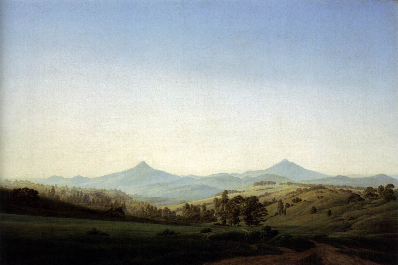Bohemian Landscape with Mount Milleschauer