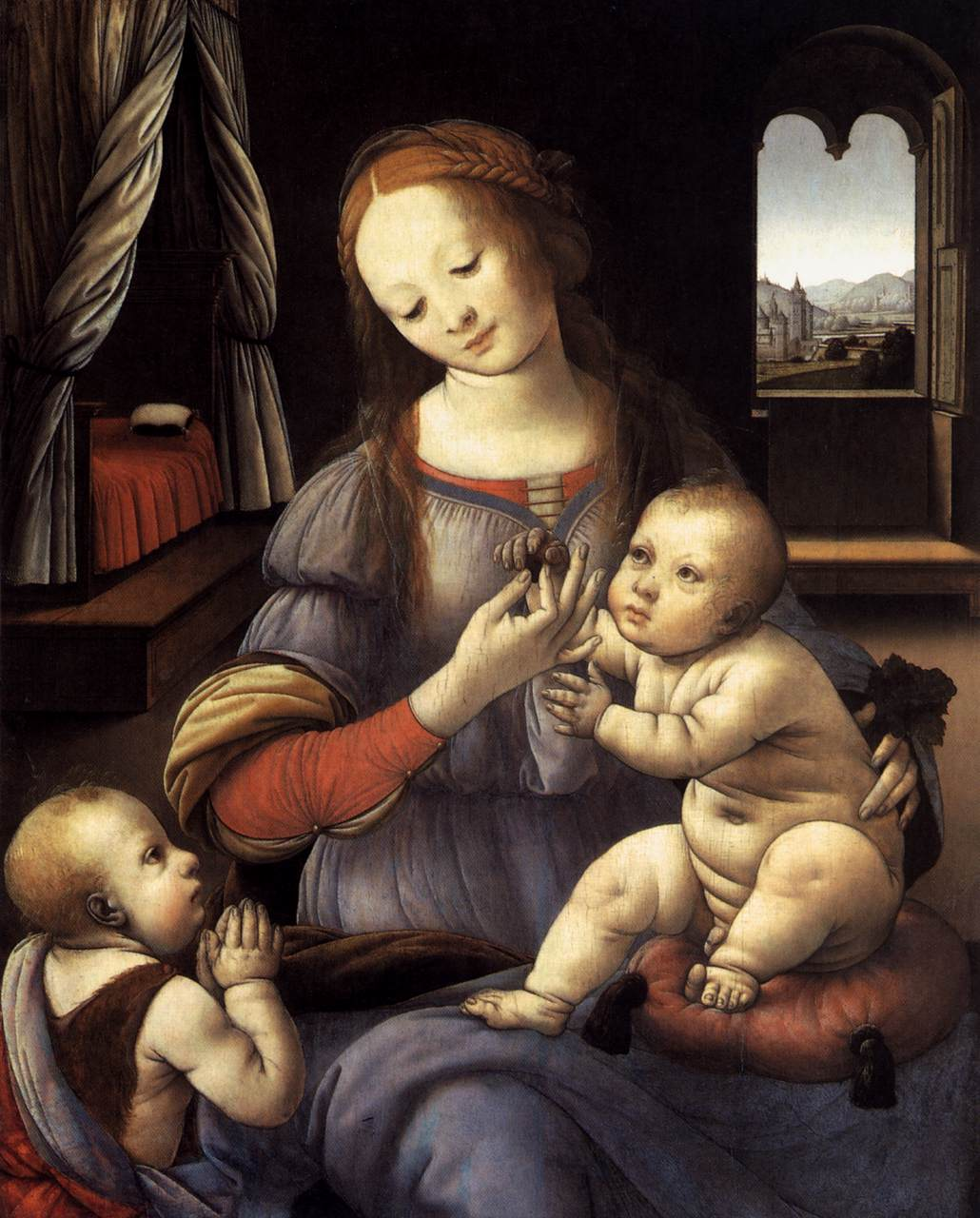 Madonna with the Christ Child and St John the Baptist