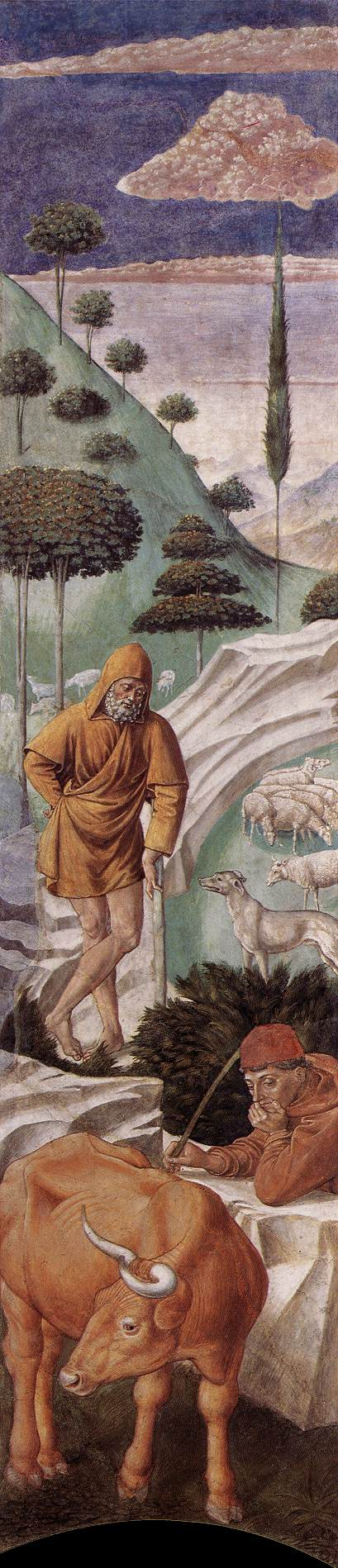 The Vigil of the Shepherds (left wall of the apse)