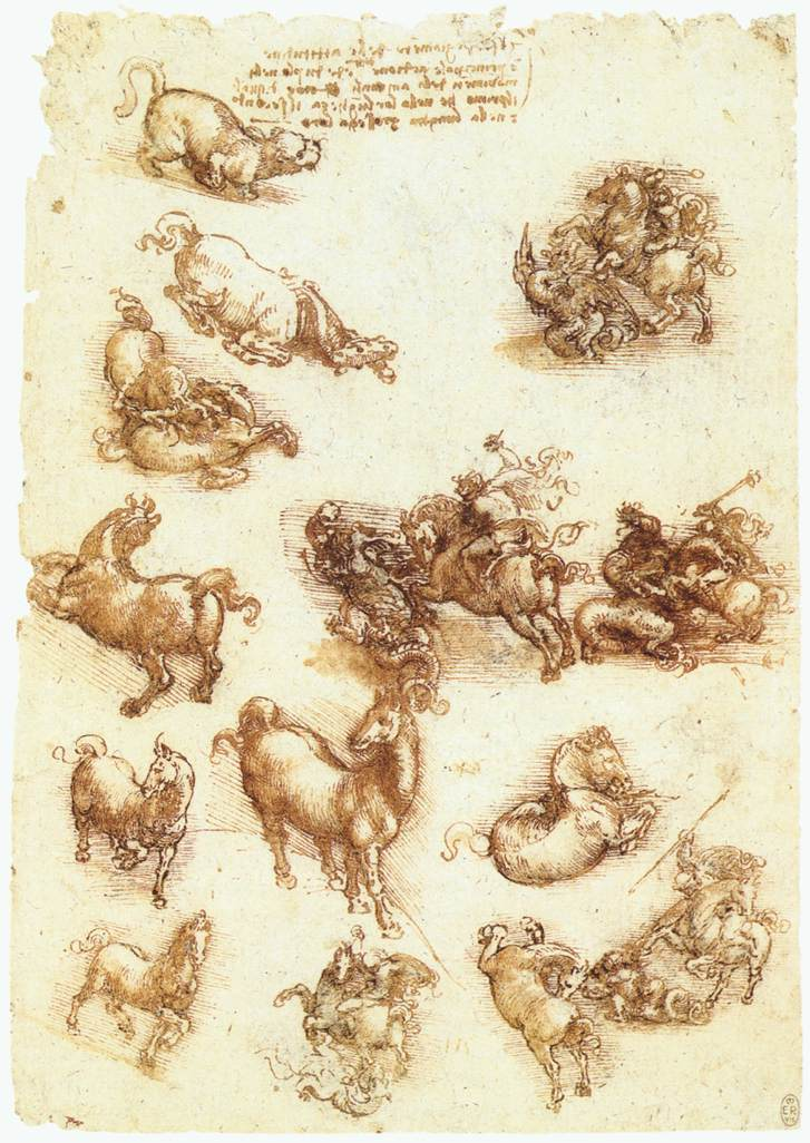 Study sheet with horses