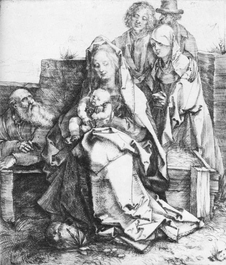 The Holy Family with St John, The Magdalen and Nicodemus