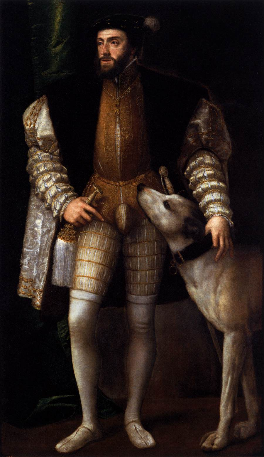 Charles V Standing with His Dog