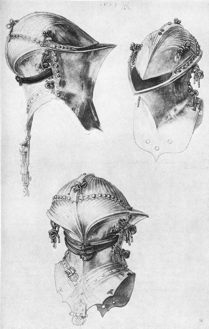 Side, Front, and Back View of a Helmet