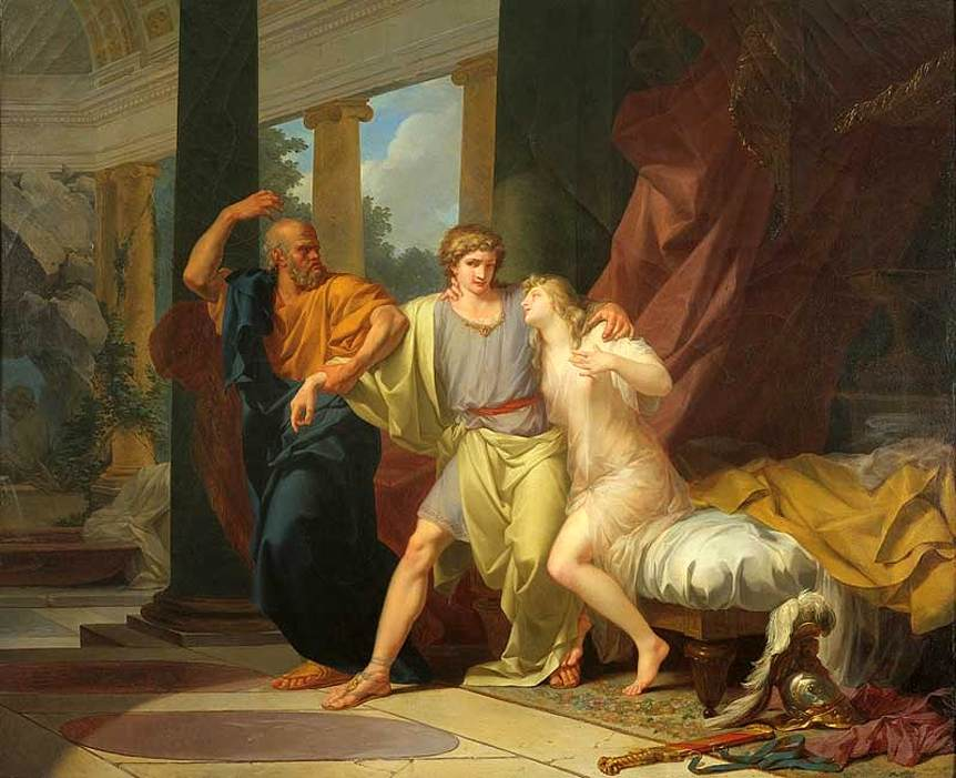 Socrates Dragging Alcibiades from the Embrace of Aspasia