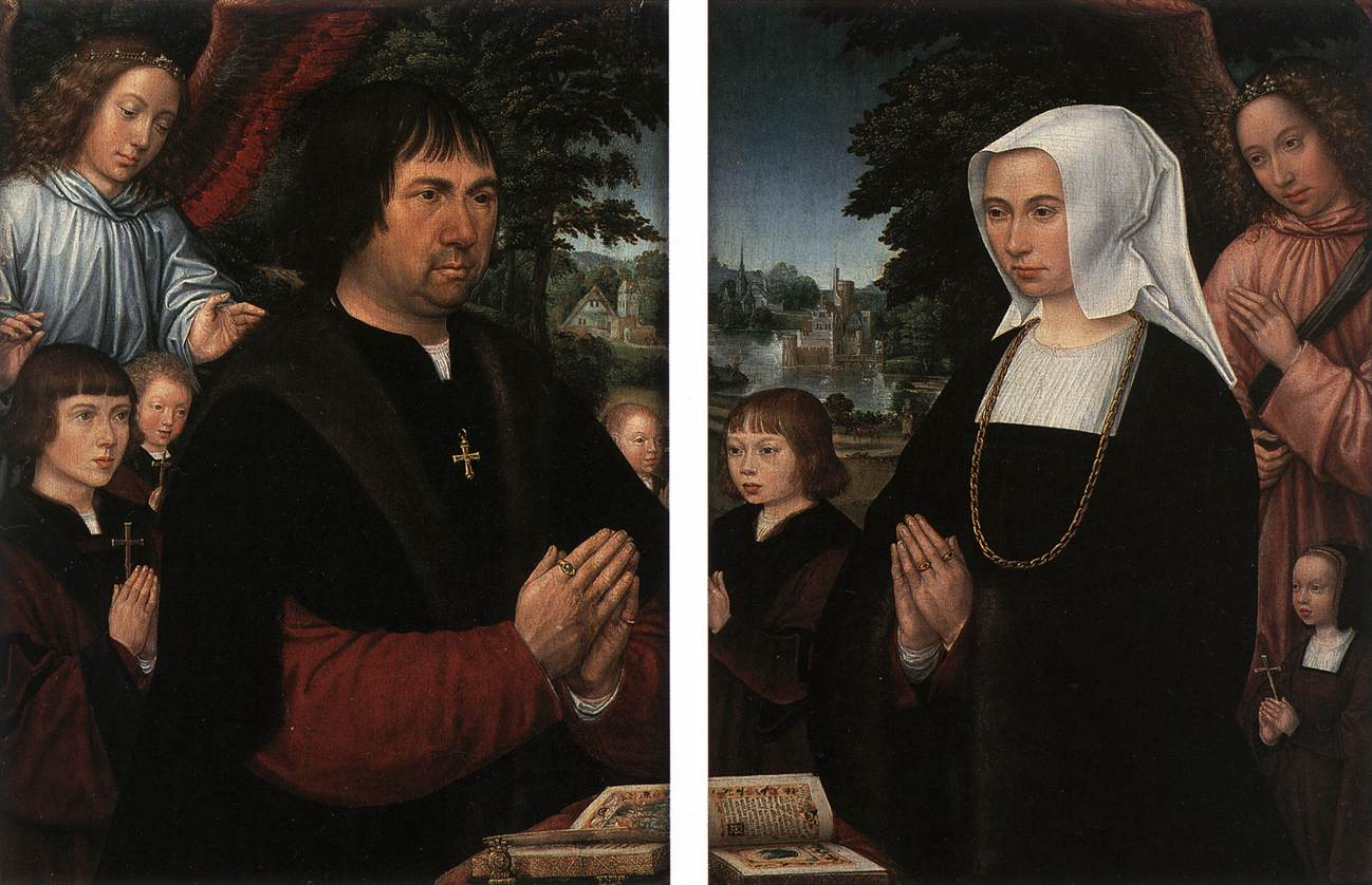 Portraits of Lieven van Pottelsberghe and his Wife