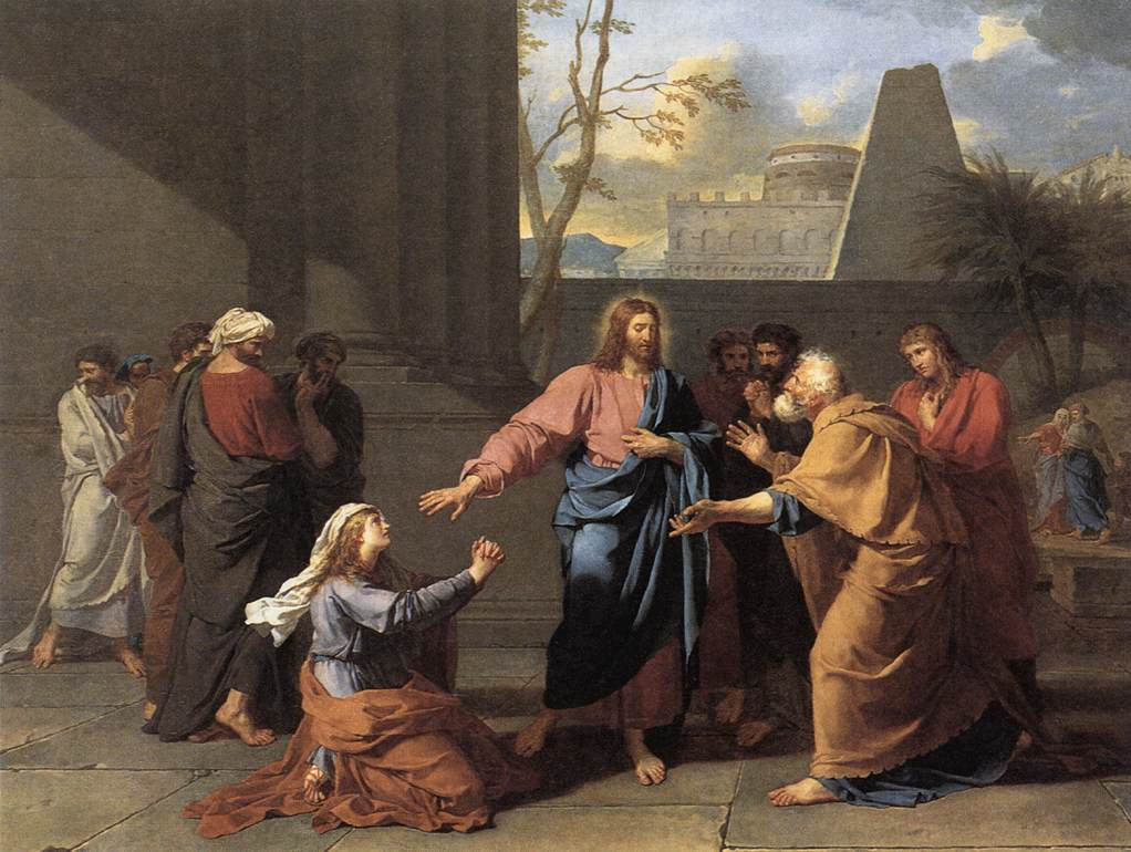 The Woman of Canaan at the Feet of Christ