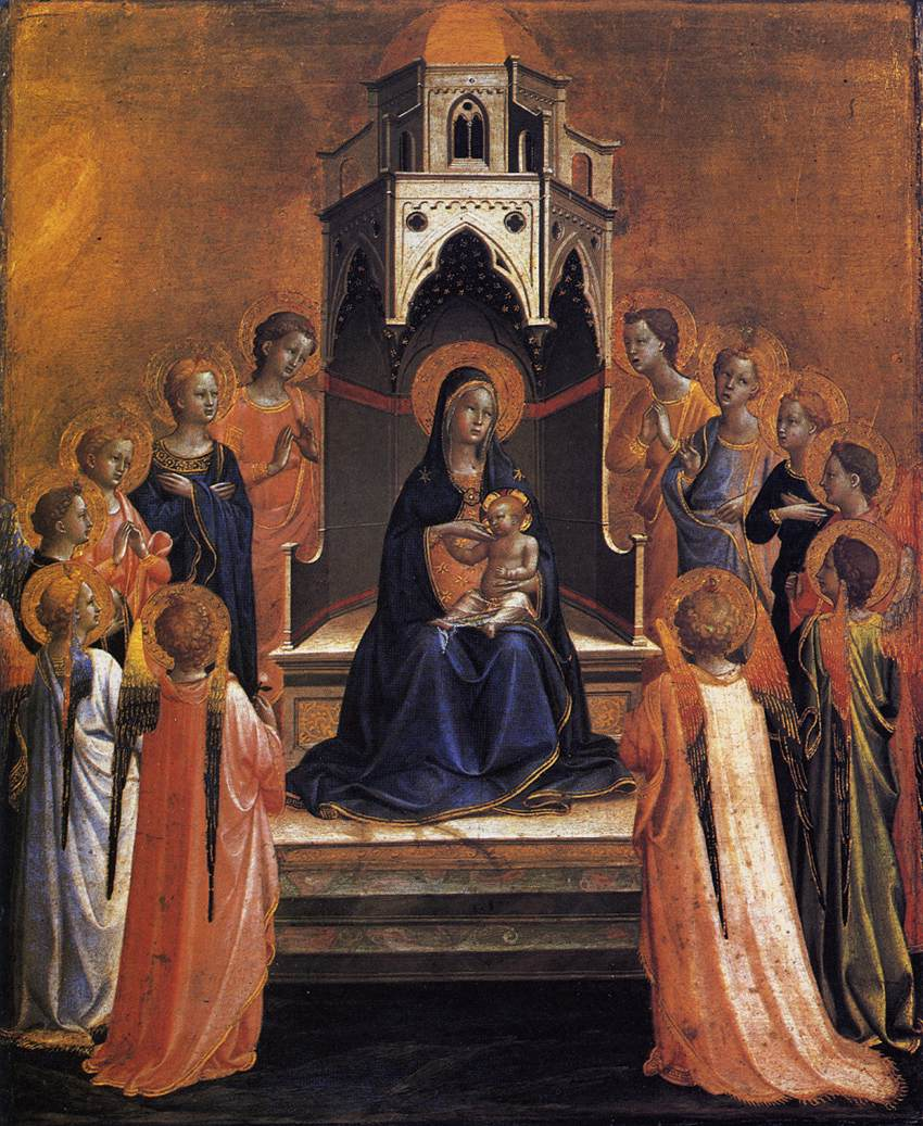 Virgin and Child Enthroned with Twelve Angels
