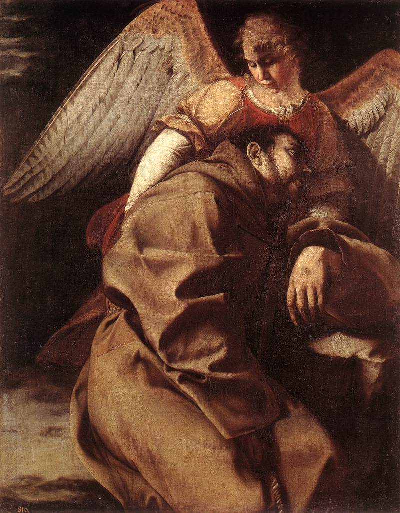 St Francis Supported by an Angel