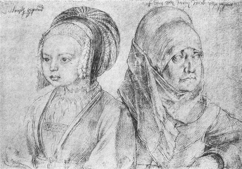 A Young Girl of Cologne and Dürer's Wife