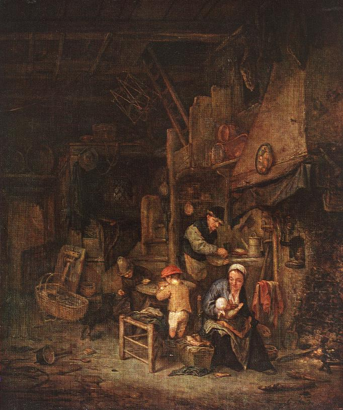 Interior with a Peasant Family