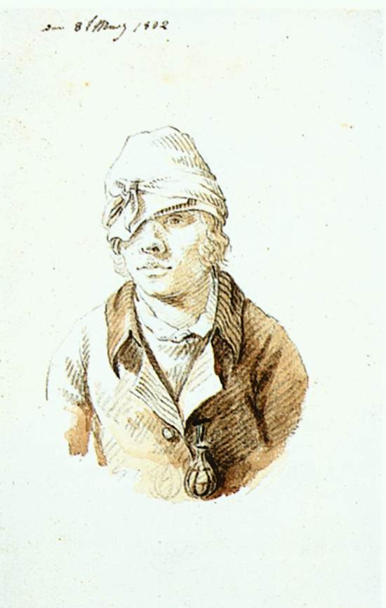 Self-Portrait with Cap and Sighting Eye-Shield
