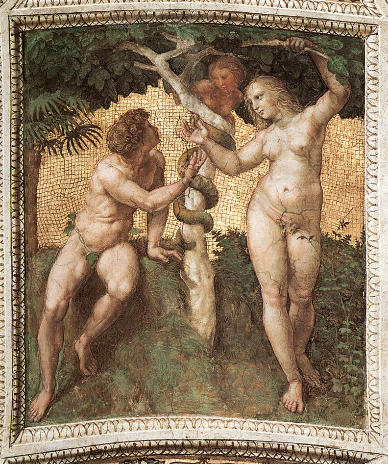 Adam and Eve (ceiling panel)