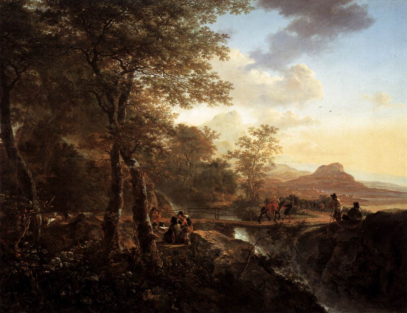 Italian Landscape with Draughtsman