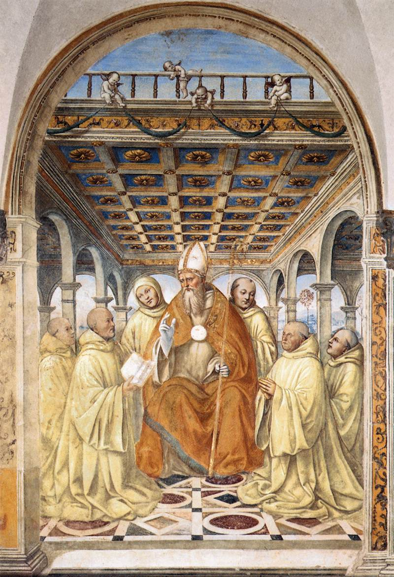 The Confirmation of the Olivetan Order by the Bishop of Arezzo