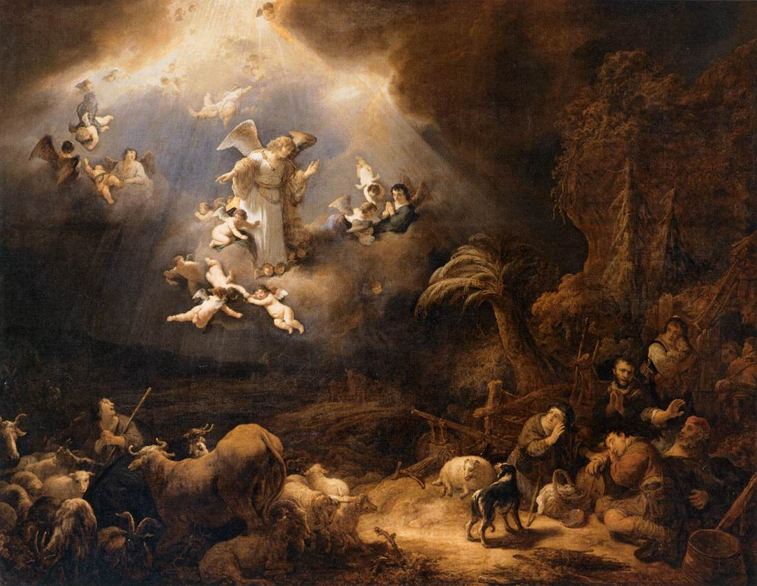 Angels Announcing the Birth of Christ to the Shepherds