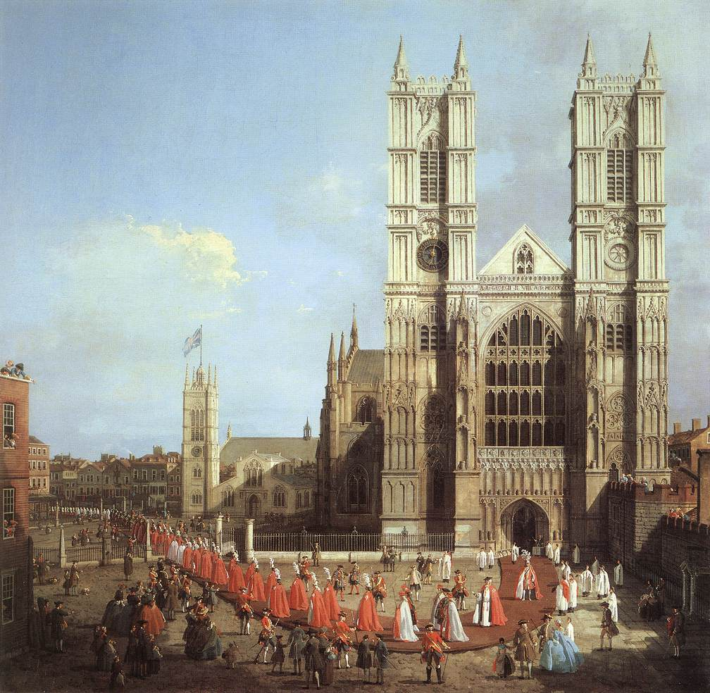 London: Westminster Abbey, with a Procession of Knights of the Bath